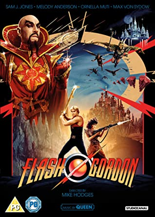 Flash Gordon DVD and Blu Ray cover