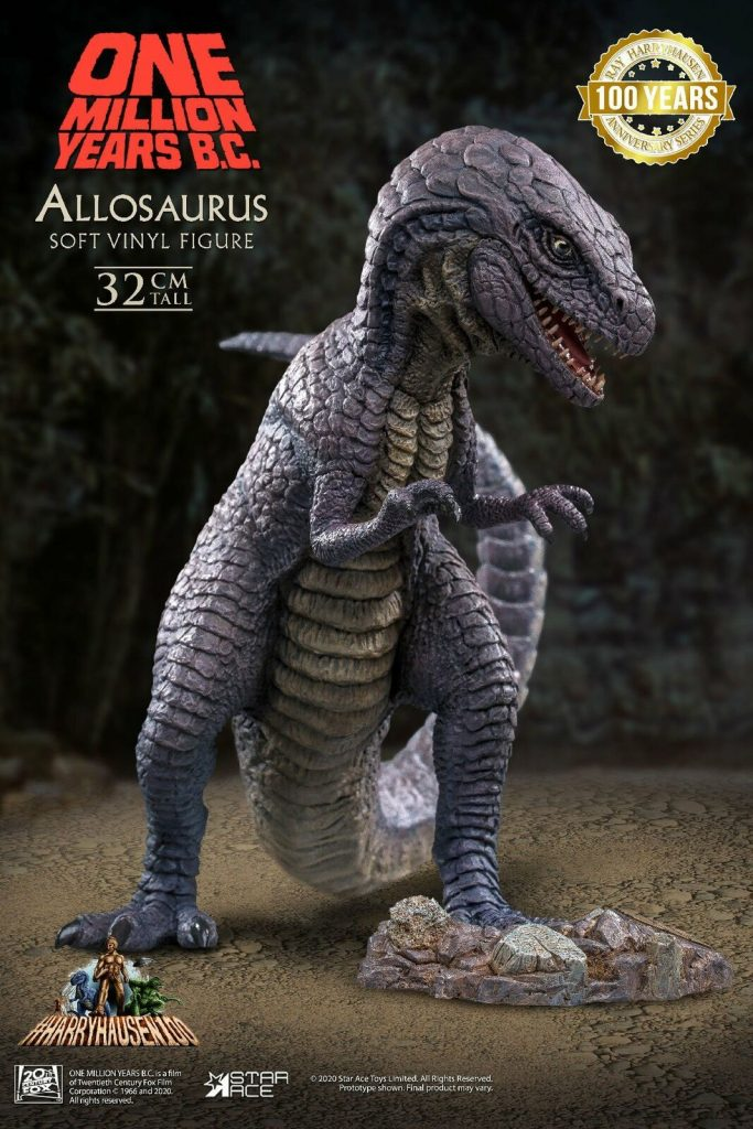 Allosaurs statue from the film 'One Million Years B.C.' made by Star Ace Toys
