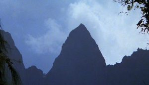 Mount Shubet, Hawaii, from the opening shot of Raiders of the Lost Ark