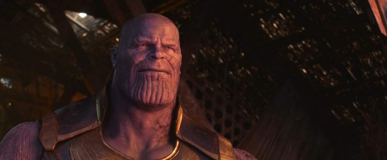 Thanos resting at the end of the 'Avengers : Infinity War' movie
