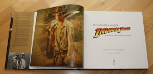 """Inside pages from the book """"The complete making of Indiana Jones"""""""